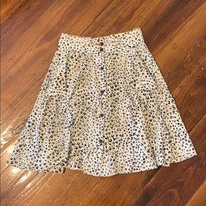 Anthropoligie Leopard Print High Waisted Skirt